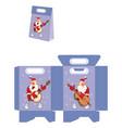 cute santa claus handbags packages pattern vector image