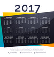 2017 new year calendar template vector image vector image