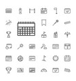 33 event icons vector image vector image