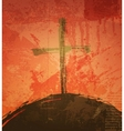 The cross on the grunge background The biblical