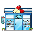 a drug store vector image