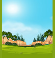 a nature view landscape vector image vector image