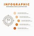 aim business deadline flag focus infographics vector image vector image