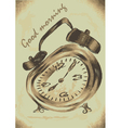 alarm clock morning vector image vector image
