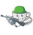 army coffee character cartoon style
