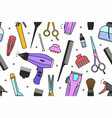 barber shop tools pattern vector image vector image
