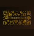 beekeeping colored horizontal vector image vector image