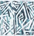 blue color tribal grunge pattern vector image vector image