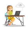 business woman using cloud computing technologies vector image vector image