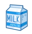 Carton of milk vector image