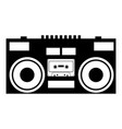 cassette recorder mobile stereo music icon black vector image vector image