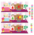 children educational game of find ten differences vector image