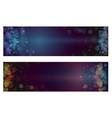 christmas bokeh background defocused lights vector image vector image