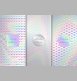 collection of holographic backdrops vector image