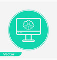 computer virus icon sign symbol vector image