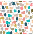 cute seamless pattern happy kitty cat kitten cute vector image