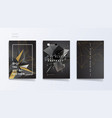 dark abstract industrial brochure template set vector image