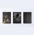 dark abstract industrial brochure template set vector image vector image