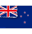 design flag new zealand from torn papers vector image vector image