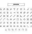 design line icon set vector image
