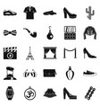 designer icons set simple style vector image vector image