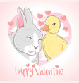 duck and rabbit love vector image