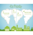 factory pollution vs green city enviroment vector image vector image