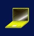 flat shading style icon laptop notebook vector image