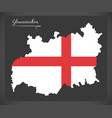 gloucestershire map england uk with english vector image vector image