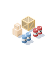 isometric set of different cargo blue and red oil vector image vector image