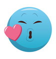 kiss chat emoticon vector image vector image