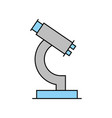 laboratory microscope isolated icon vector image vector image