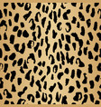 leopard seamless pattern in beige gradient and vector image vector image