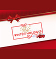 lettering greeting card for winter holidays vector image vector image