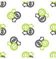line job promotion exchange money icon isolated vector image vector image