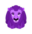 lion eggplant purple wild animal vector image