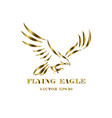 logo eagle that is flying eps 10 vector image vector image