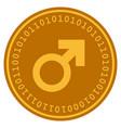 male symbol digital coin vector image vector image