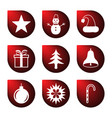 merry christmas icon new year sign vector image