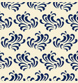 ocean waves seamless pattern classic blue color vector image vector image