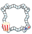 pop corn and movie vector image vector image