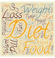 Popular Diet Comparisons text background wordcloud vector image vector image