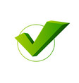 realistic 3d detailed check mark yes or vector image vector image