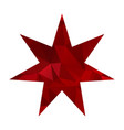 red triangle star vector image vector image