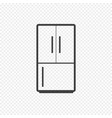 refrigerator icon isolated on transparent vector image vector image