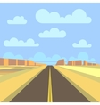 Road highway and mountain landscape background vector image vector image