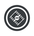 Round black 3D movie sign vector image vector image