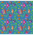 seamless pattern marine life with colorful fish co vector image vector image
