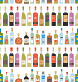 seamless pattern with alcohol bottles vector image vector image