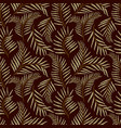 seamless pattern with tropical leaves seamless vector image vector image